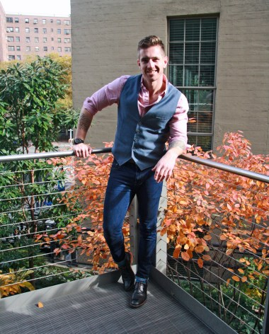 The waist coat that cleans up
