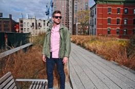 Jacket - Vintage, Shirt - Gap, Jeans - Tommy Hilfiger, Sunglasses - Oakley, Shoes - Ted Baker