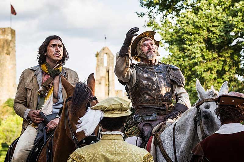 Adam Driver e Jonathan Pryce in una scena del film L'uomo che uccise Don Chisciotte - Photo: courtesy of M2 Pictures