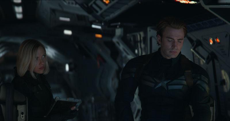 Scarlett Johansson e Chris Evans in scena del film Avengers: Endgame - Photo: MARVEL STUDIOS