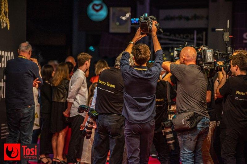 I fotografi sul red carpet del Locarno film festival 2019 © Tosi Photography