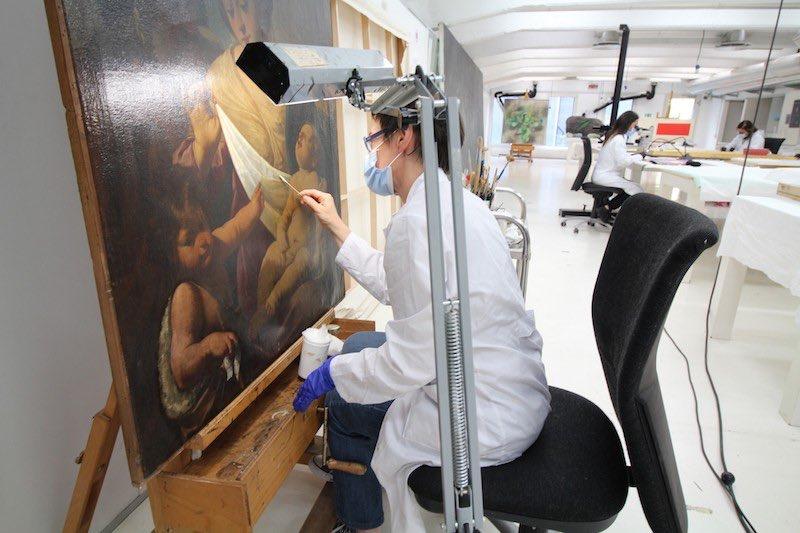 Giornate FAI d'Autunno 2020-Milano, Frigoriferi Milanesi, restauro pittura-Foto di Metamorphosi © FAI - Fondo Ambiente Italiano