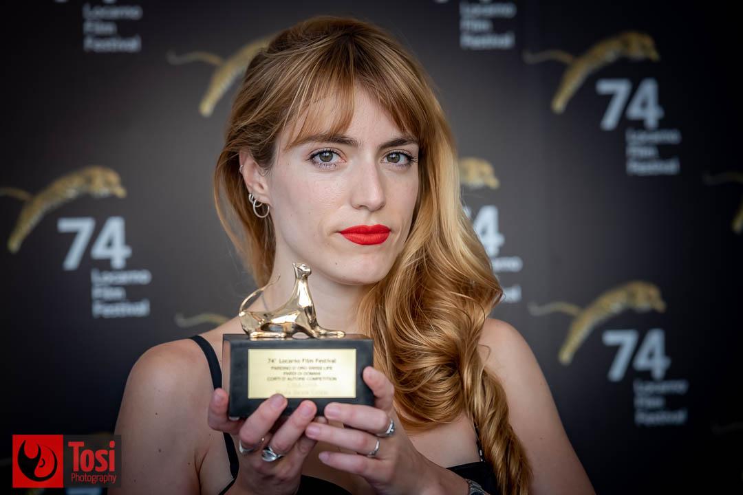 Vincitori Locarno 2021, pardino d'oro Swiss Live a Maria Silvia Esteve (Film Criatura) © Tosi Photography