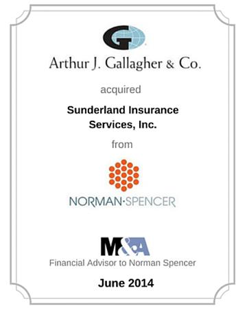 Norman-Spencer Agency, Inc. sells Sunderland Insurance