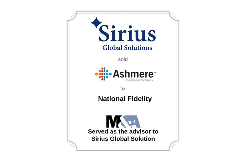 Sirius sells Ashmere Insurance Company to National
