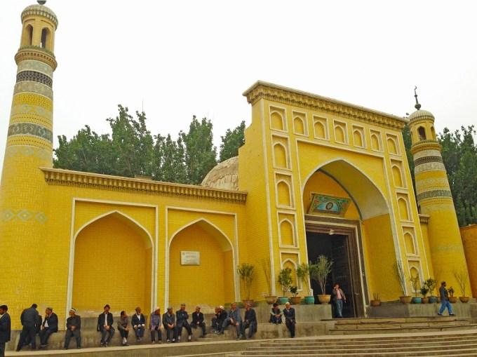 Masjid Id Kah yang Berada di Kashgar, Xinjiang, China