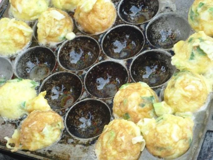 Telur dadar dari telur burung puyuh