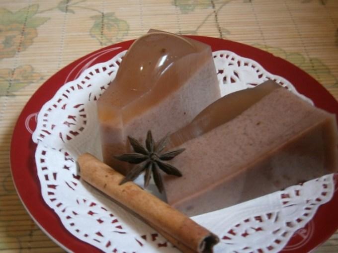 Puding busa rasa coklat
