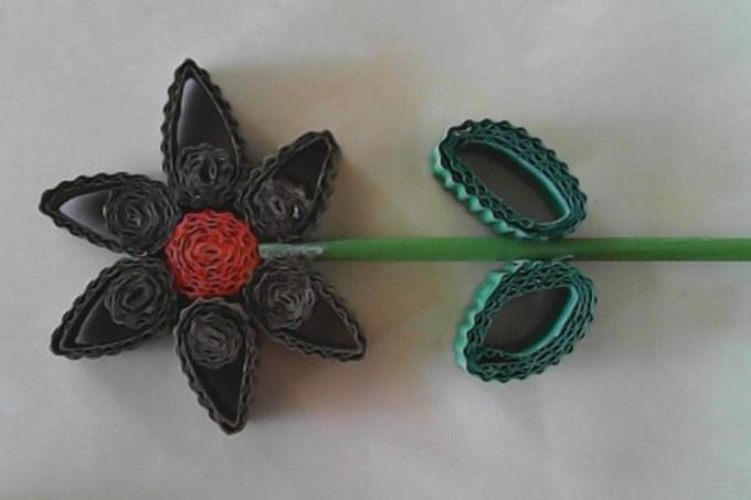 bunga dari kardus