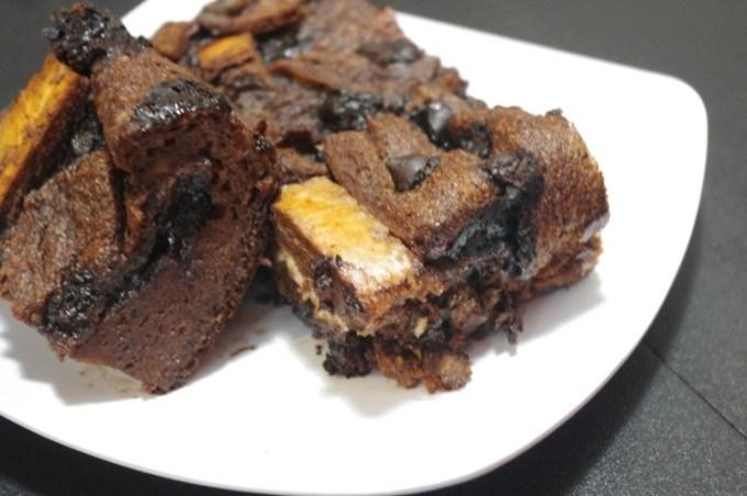puding roti coklat