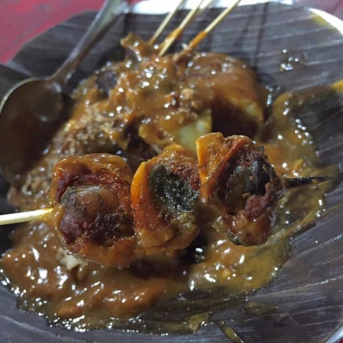 Makanan khas Padang - Sate Lokan