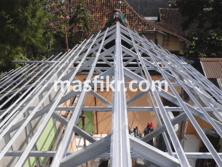 harga atap baja ringan yogyakarta jogja untuk konstruksi rangka dan kanopi dengan