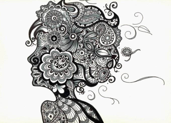 Gambar Doodle Bunga