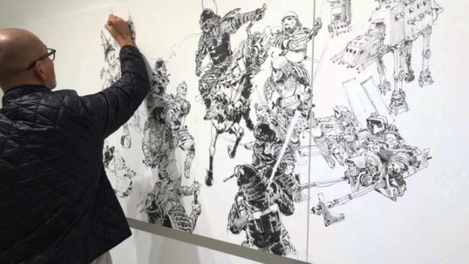 Kim Jung Gi Sedang Menggambar