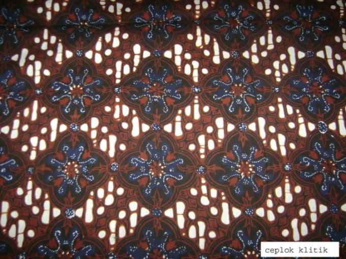 Motif Batik Ceplok Klitik