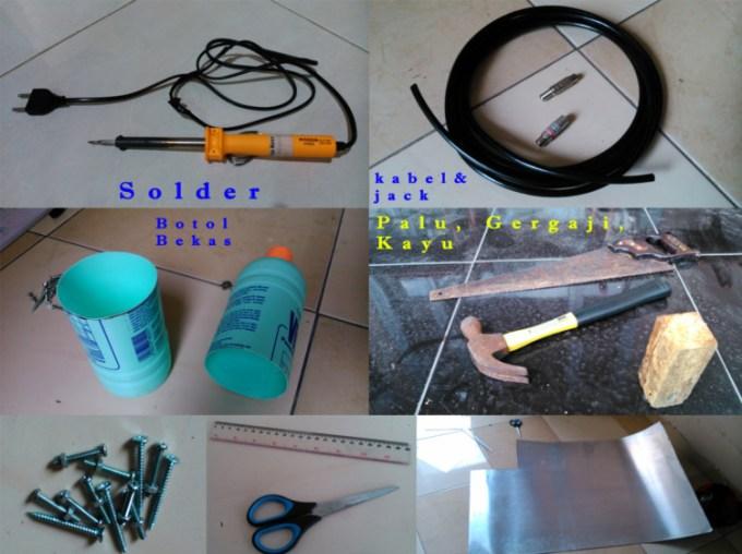 Alat dan Bahan - cara membuat antena tv indoor