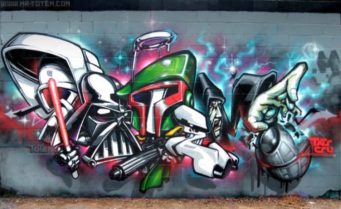 Gambar grafiti Star Wars