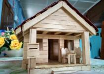 Kerajinan Tangan Rumah dari Stik Es Krim