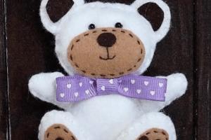 Boneka beruang dari kain flanel