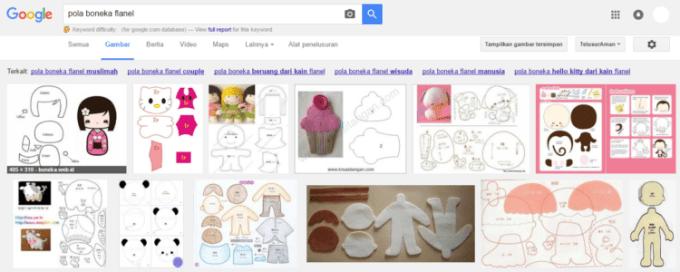 Pola untuk membuat boneka dari kain flanel