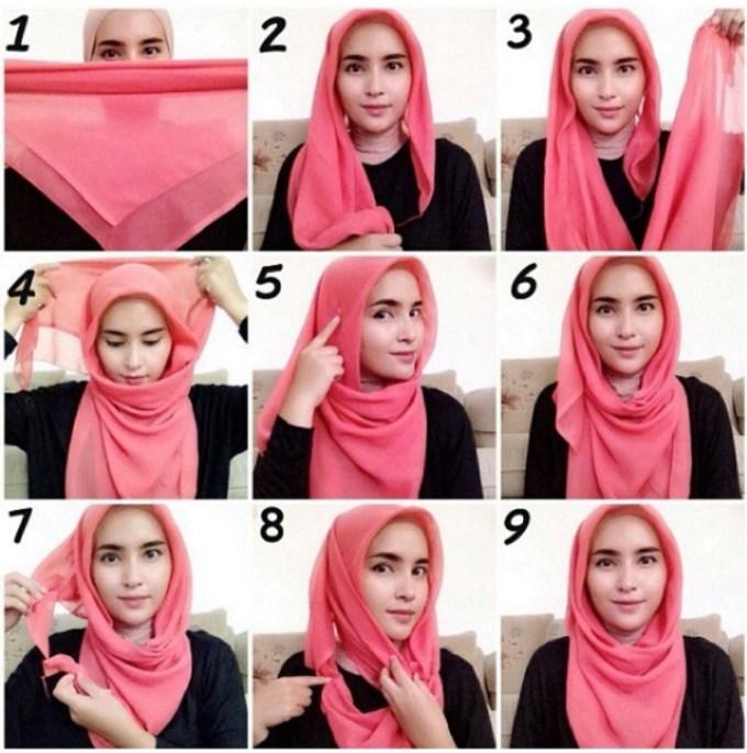 Cara Memakai Hijab Mudah