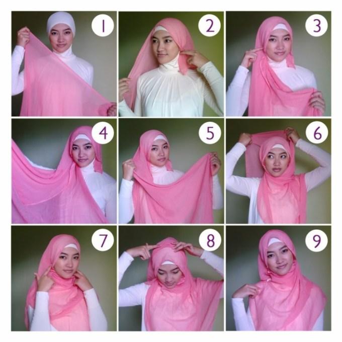 14 Cara Memakai Jilbab Segi Empat Dan Pashmina Yang Simple Modern