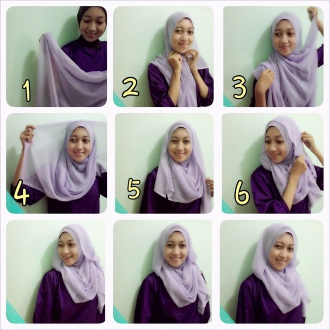 Memakai Jilbab Sederhana
