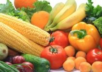 Buah dan sayur yang kaya akan serat