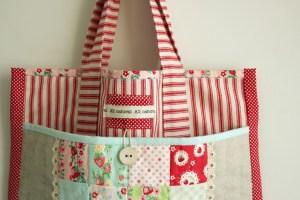 Tas cantik yang terbuat dari kain perca