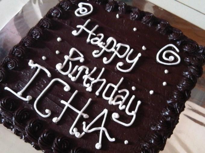 Kue ulang tahun coklat