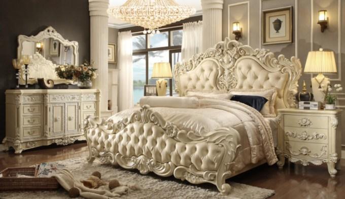 Tempat tidur kamar pengantin yang mewah