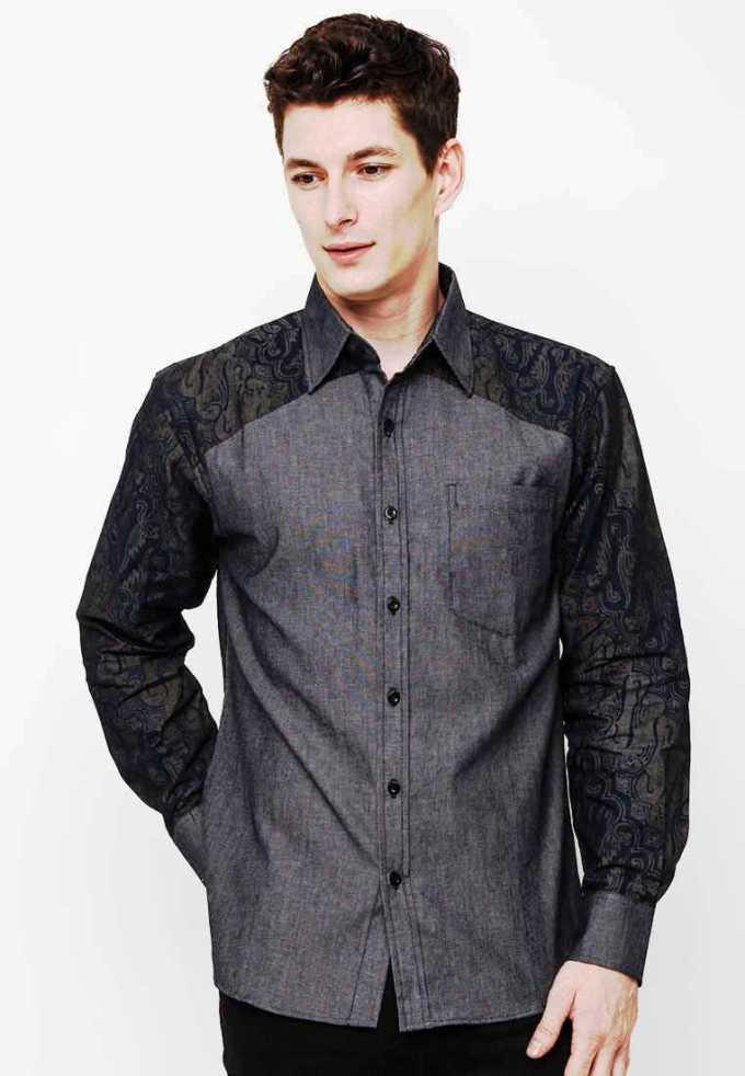 Model Kemeja Batik Kombinasi Pria