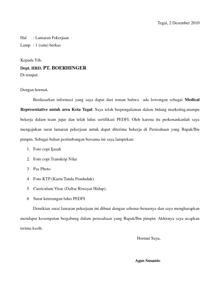 Surat Lamaran Solan Annafora Co