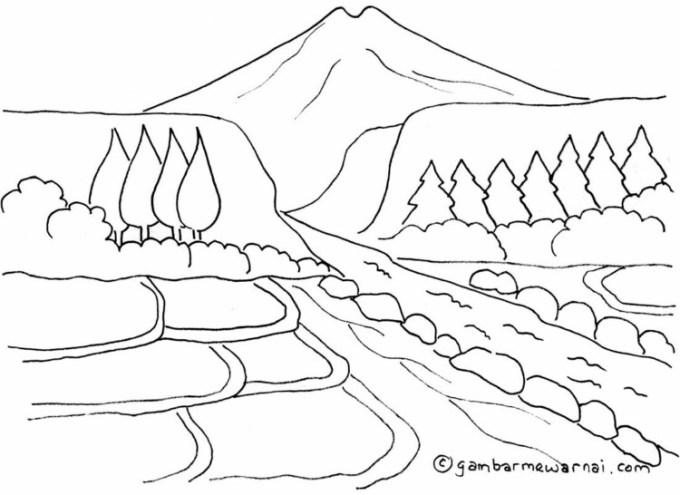 Pemandangan gunung