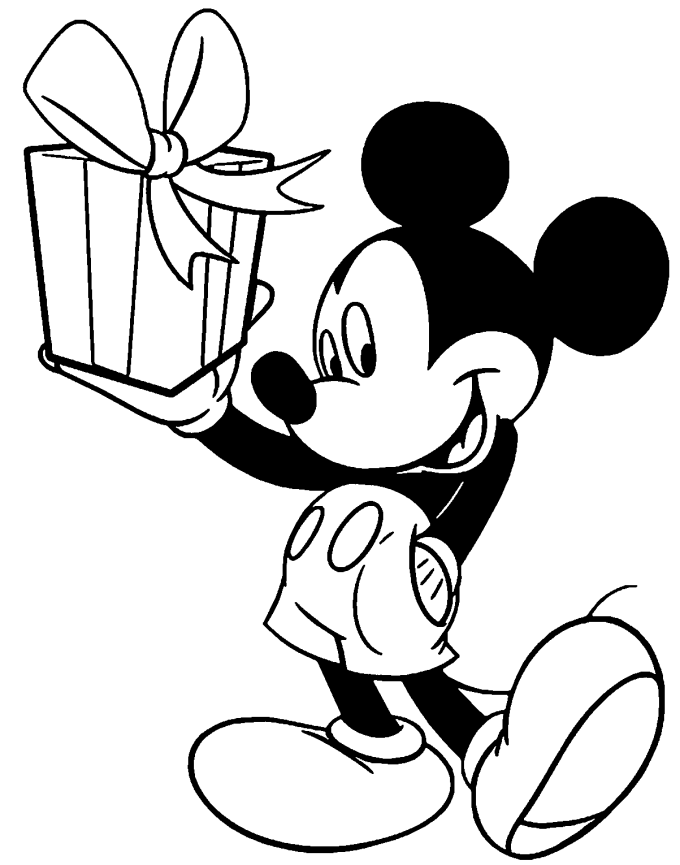 Sketsa kartun Mickey Mouse