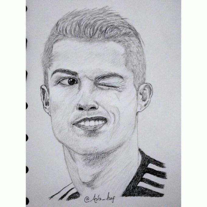 Sketsa wajah Cristiano Ronaldo