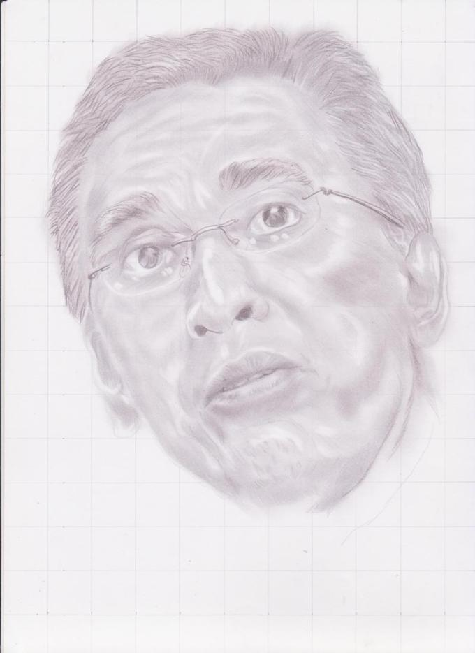 Sketsa wajah Iwan Fals