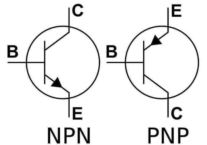 transistor simbol - komponen elektronika dasar
