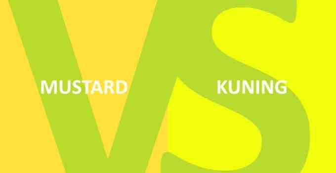 perbedaan warna mustard dan kuning