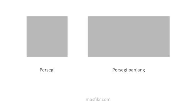 persegi dan persegi panjang