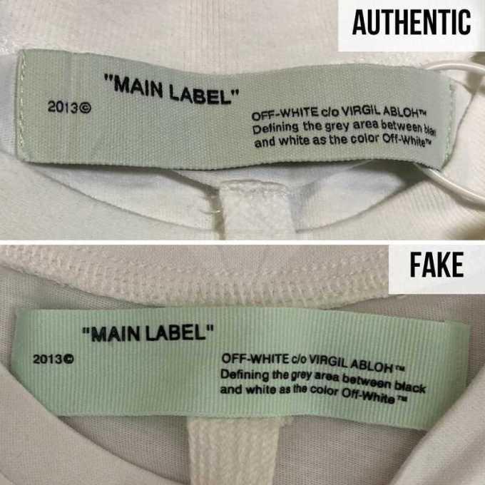 label di leher off white