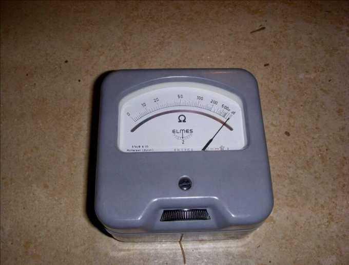 ohm meter analog alat ukur listrik
