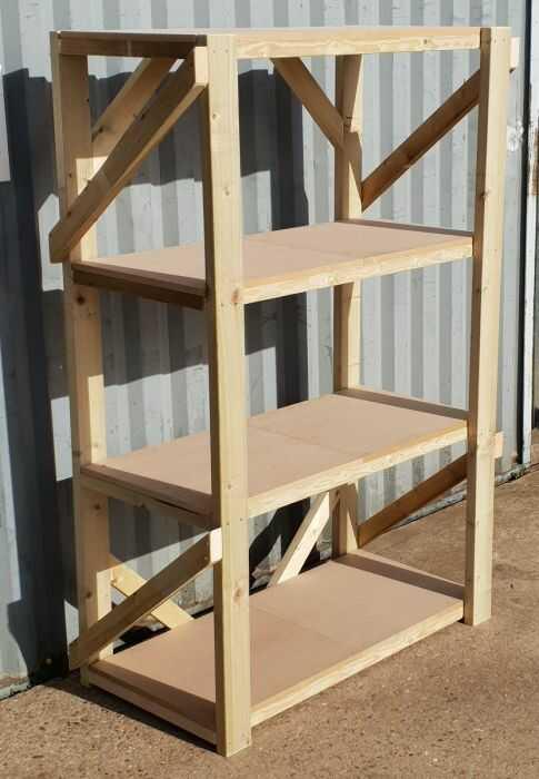 rak kayu sederhana