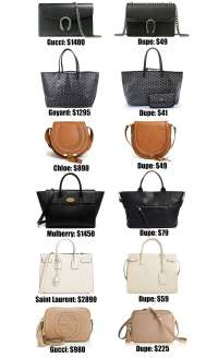 The Ultimate Designer Bag Dupes Guide | Fashion | Mash Elle