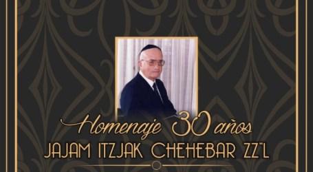 Homenaje. 30 años Jajam Itzjak Chehebar ZZL