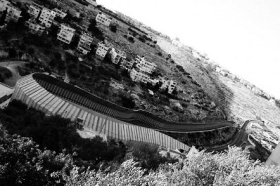 La barrière de séparation israélienne en Bethleeme