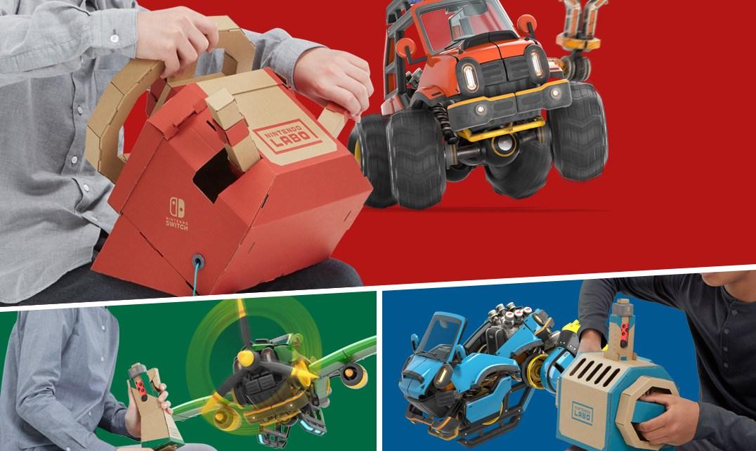 main 任天堂實驗室第三款厚紙板套件組Drive Kit 讓你駕駛汽車、飛機或潛水艇