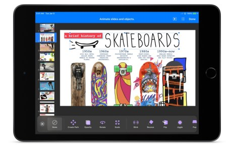 Keynote iWorks 2019搭配新款iPad升級 加入諸多iOS操作功能與手寫應用項目