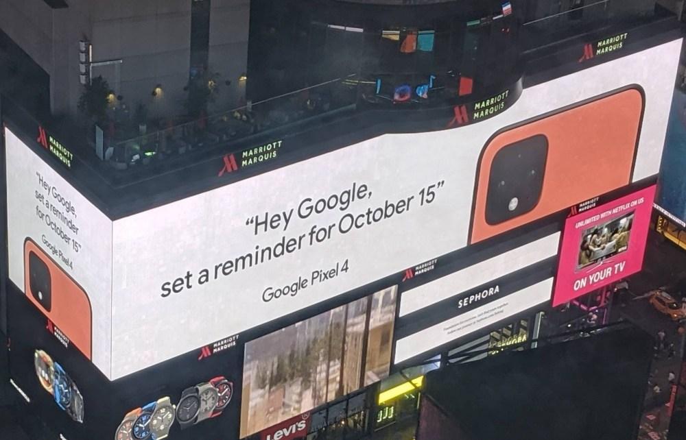 fh1OwWU Google透過紐約時代廣場大幅廣告證實Pixel 4加入新色