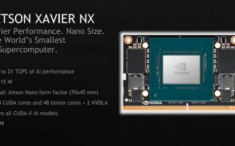 nvidia xv nx 00 邊緣運算應用新成員 NVIDIA推出僅名片大小、效能十足的Jetson Xavier NX開發板